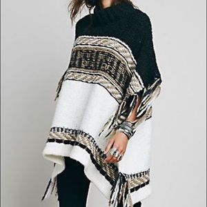 FREE PEOPLE Labyrinth Poncho Sweater